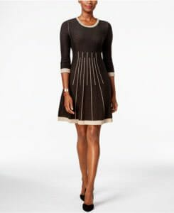 22bd948da8a Jessica Howard Petite Fit and Flare Sweater Dress - Photo credit  shopstyle .com