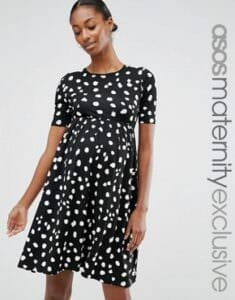 363f373eb6c10 ASOS Maternity Dress in mono animal print - Photo credit: shopstyle.com
