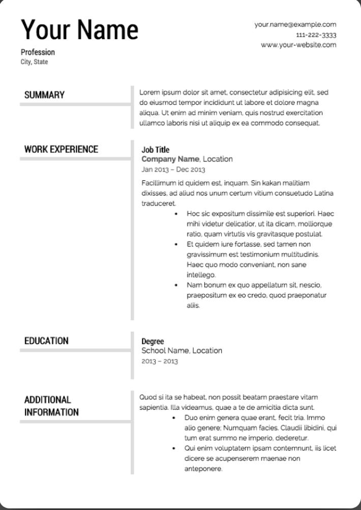 Super Resume Templates