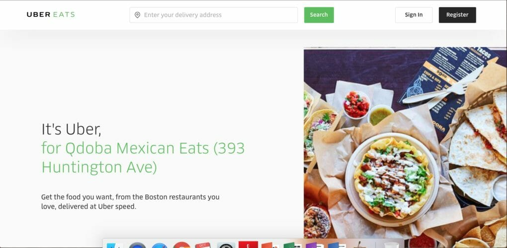 How Do A Search For Food On Uber Eats