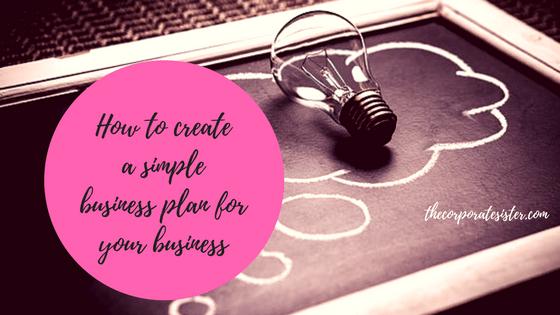 create a simple business plan