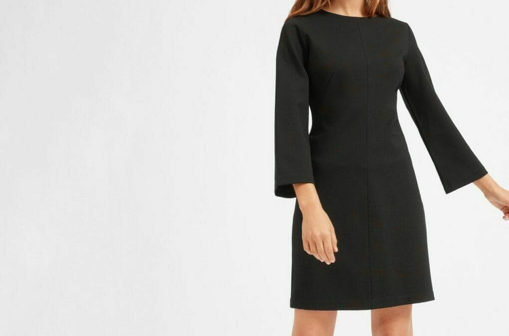 178984a2e3f Wear to Work  Long-Sleeve Shift Dress - The Corporate Sister